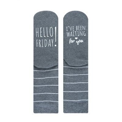 "SOXO Women's socks ""Hello Friday! I've been waiting for """