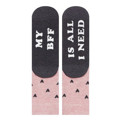 "SOXO Women's socks ""My BFF is all i need"""