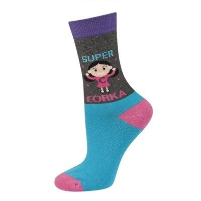 SOXO Women's socks SUPER CÓRKA (polish text)