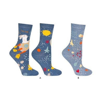 SOXO Women's socks with history, 2 pairs