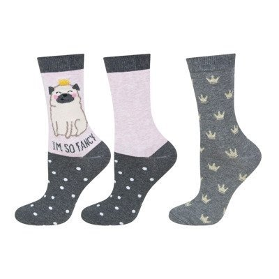 "SOXO Women's socks with history, 2 pairs ""I'm so fancy"""