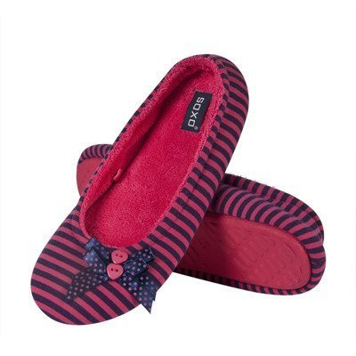 SOXO Women's two-colored ballerina slippers