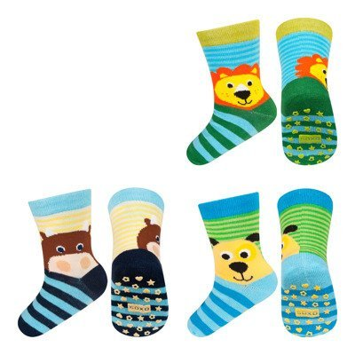SOXO baby socks 6 pairs with abs - ANIMALS