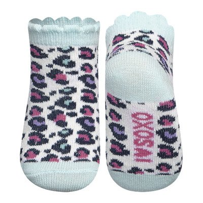SOXO baby socks with a leopard print - turquoise