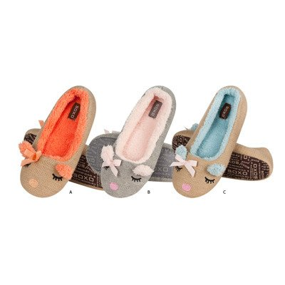 SOXO ballerin slippers with animal