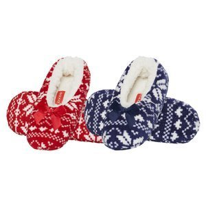 SOXO ballerinas with red and navy blue bow