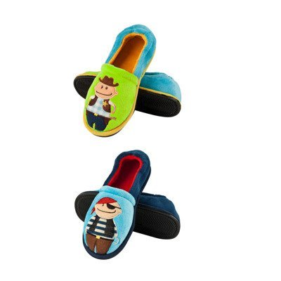 SOXO children's slippers with a full heel - Sheriff & Pirate