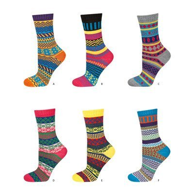 SOXO colorful socks with pattern