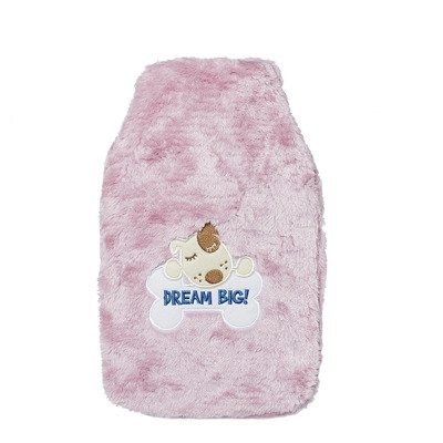 "SOXO hot water bottle in furry cover - ""Dream Big"""