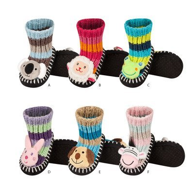 SOXO knitted baby slippers with animal head