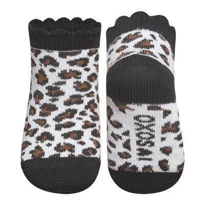 SOXO leopard socks - black / brown