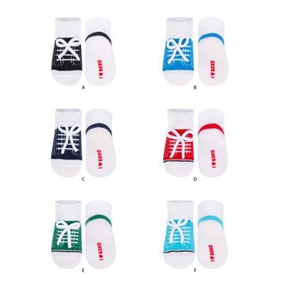 SOXO sneaker socks with laces