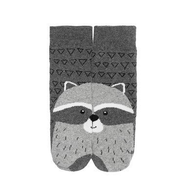 SOXO socks raccoon