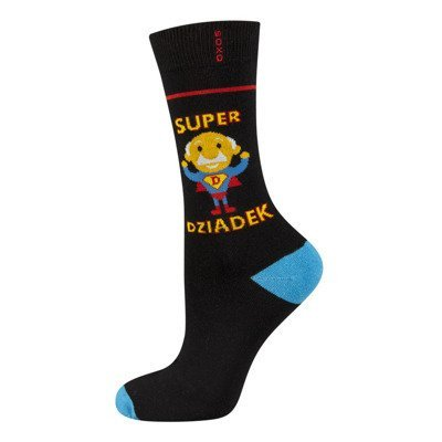 "SOXO socks ""super dziadek"" (polish text)"