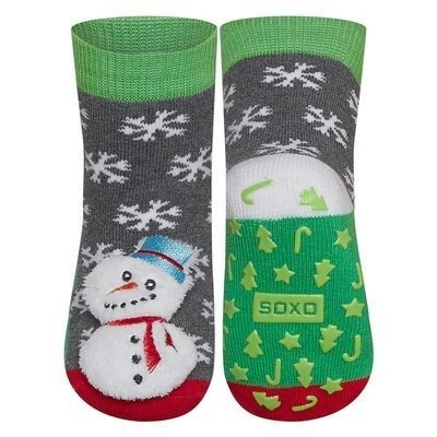 SOXO socks with a rattle - snowman