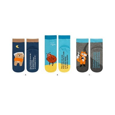 SOXO socks with poems (polish text)