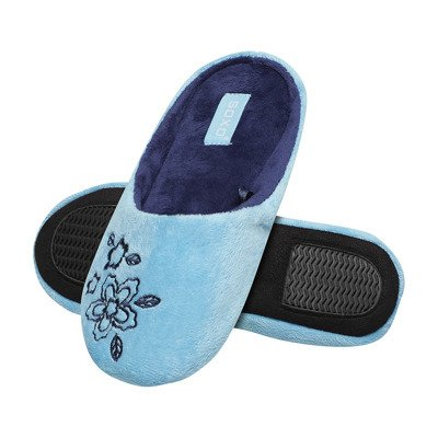 SOXO women's slippers with embroidery - blue