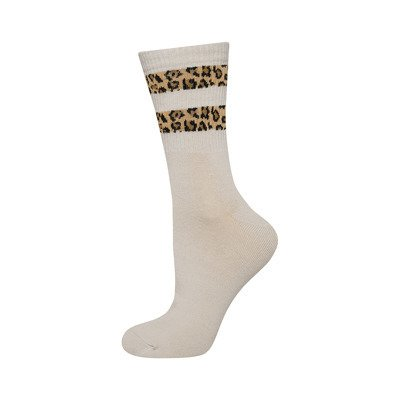 SOXO women's socks with panther stripes - beige