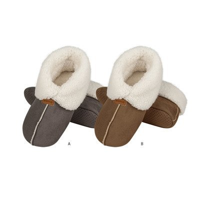 Slippers SOXO beige and gray with fur