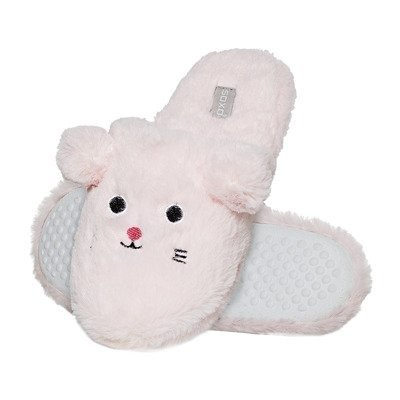 Slippers SOXO mouses- pink with hard soles