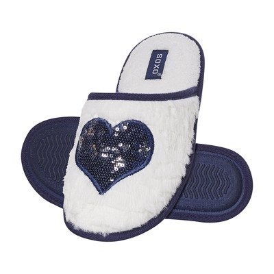 Slippers SOXO white with heart
