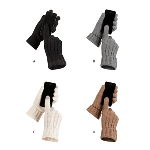 Knitted gloves SOXO for touchscreens