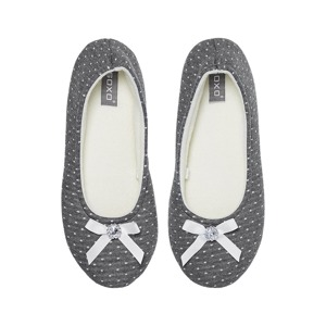 SOXO Women's gray ballerina slippers with hard sole
