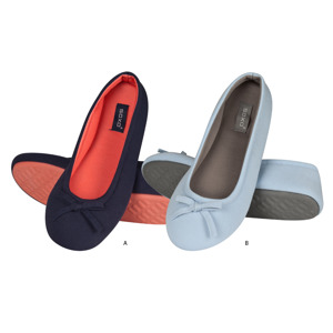 SOXO Women's two-colored ballerina slippers with TPR sole