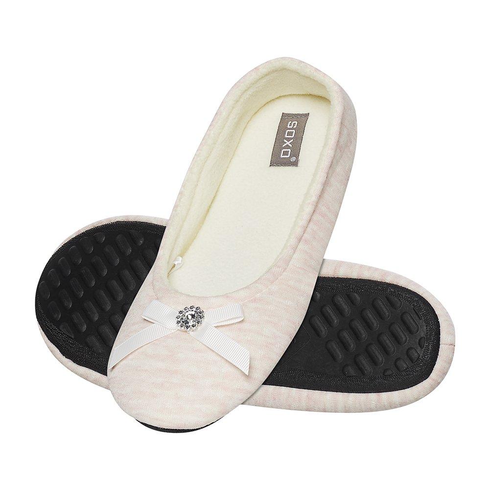 SOXO Women's pink ballerina slippers