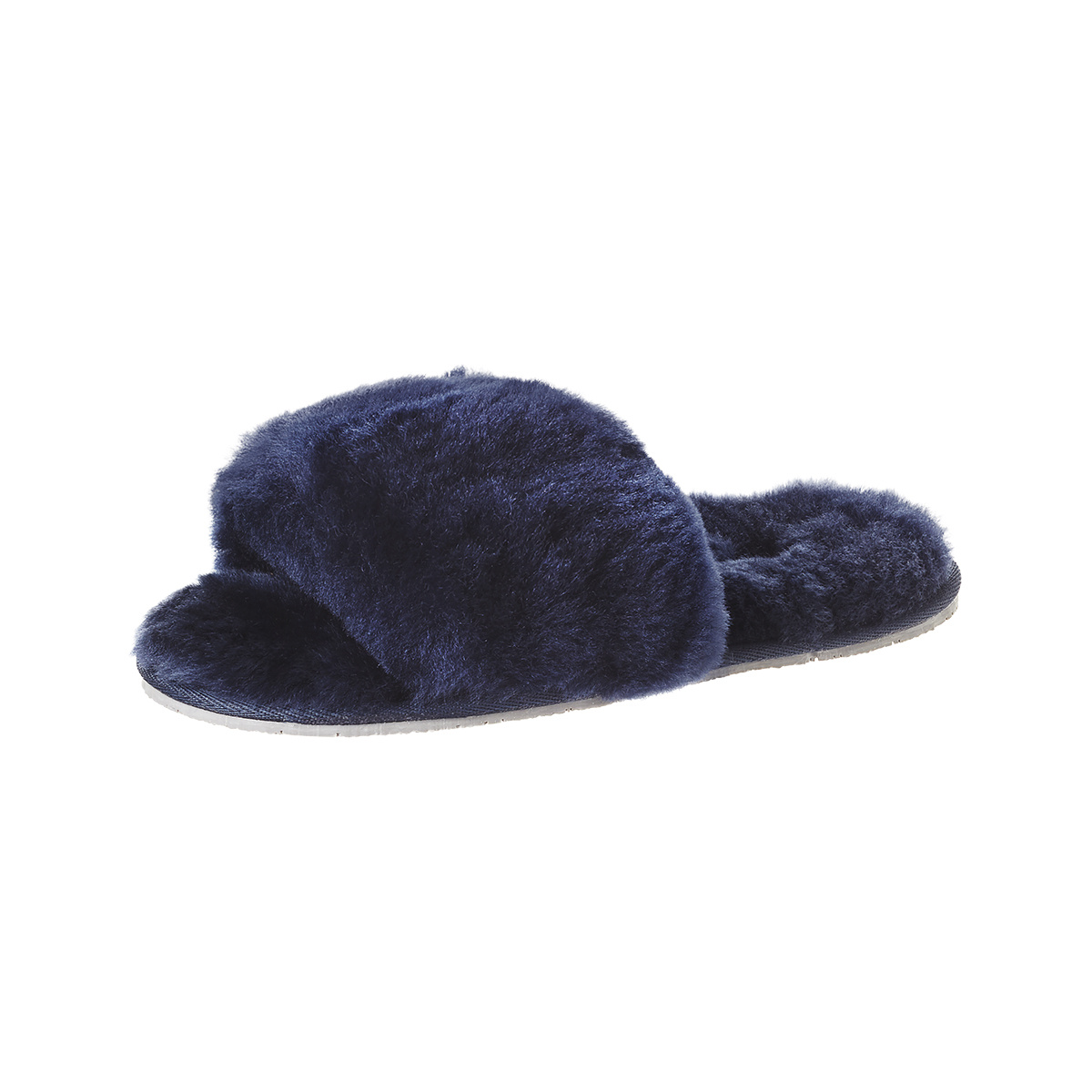70f3f108e SOXO Women's slippers sheepskin navy blue | Slippers \ Classic NEW ARRIVALS  WOMEN \ Slippers | Wholesale socks, slippers