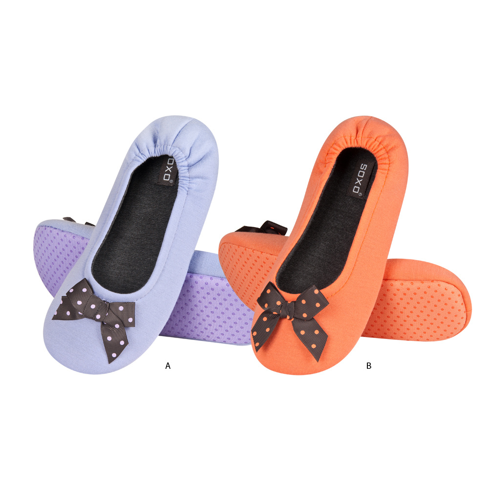 185bc9109c31 SOXO ballerina slippers with spotted bow