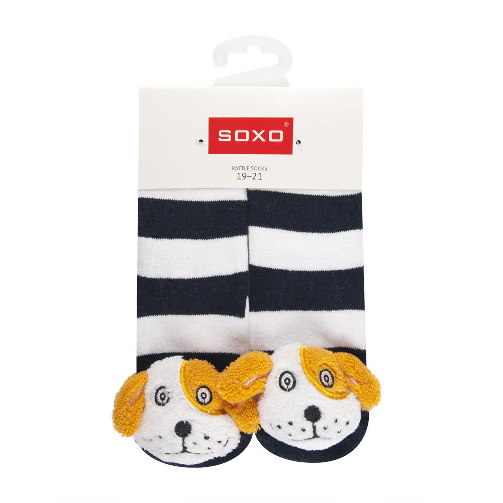 Soxo infant Rattle ABS socks size 19-21