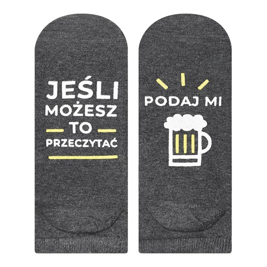 "Mens footies SOXO life instructions ""Podaj mi piwo"""