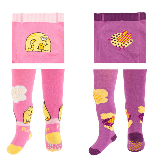 SOXO Infant tights for girls with picture