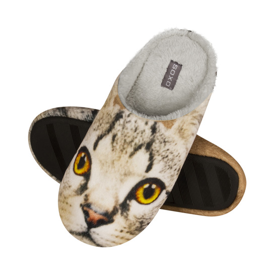 SOXO Photo slippers with kitty