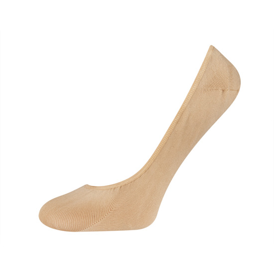 SOXO Women's beige footies with silicon on heel