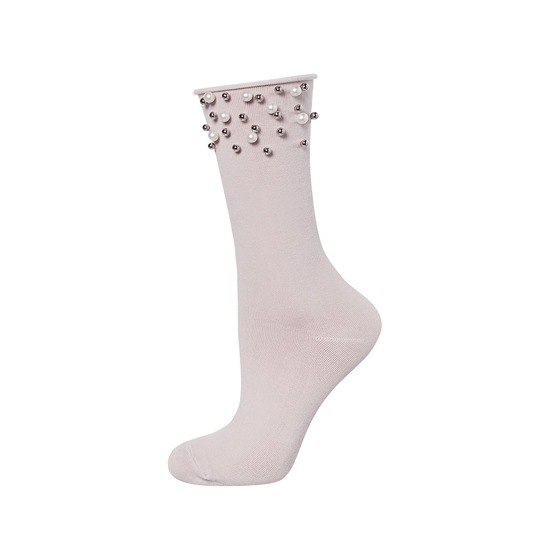 SOXO Women's socks with 'Pearls' light pink