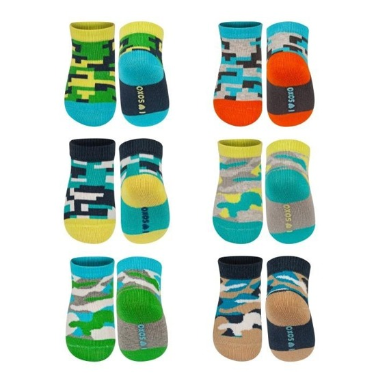 SOXO baby socks with abs - colorful patterns
