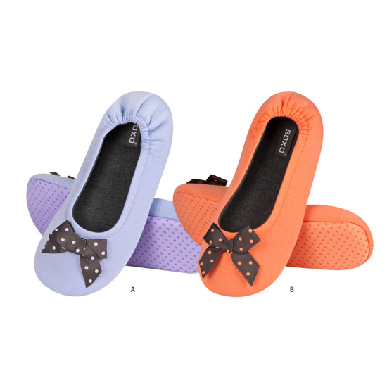SOXO  ballerina slippers with spotted bow