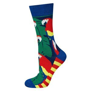 Good Stuff Women socks witch tropical parrots
