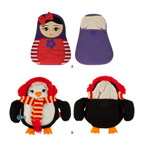 "Heater in SOXO case - ""Matryoshka and her frozen Penguin!"""
