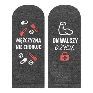 "Mens footies SOXO life instructions ""Walka o życie"""