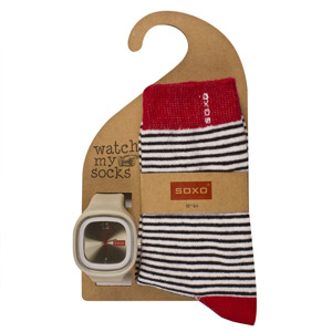 "SET Women's socks + watch SOXO - ""Watch My Socks"""