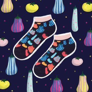 SOXO GOOD STUFF socks - pumpkins