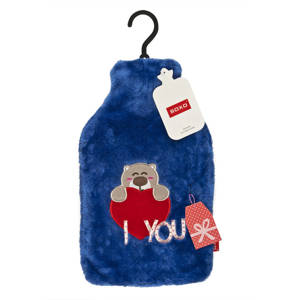 SOXO Hot water bottle fluffy with teddy bear