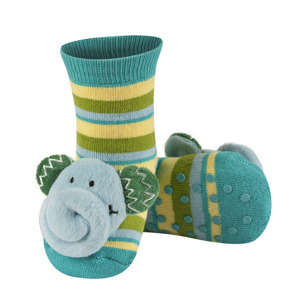SOXO Infant socks with rattle
