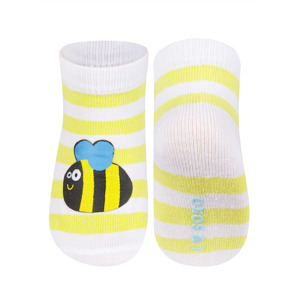 SOXO Infant striped socks with patch