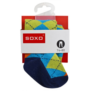 SOXO Infant tights with ABS - geometric patterns