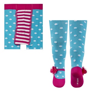 SOXO Infant tights with bow and ABS - colorful patterns