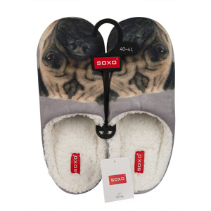 SOXO Men's slippers with animal photos